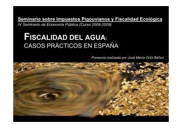 FISCALIDAD DEL AGUA: - Grupo.us.es