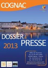 Dossier de Presse 2013 - Office de tourisme de Cognac
