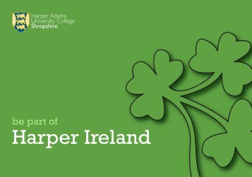 be part of Harper Ireland - Harper Adams University College