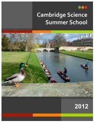 Cambridge Science Summer School 2012
