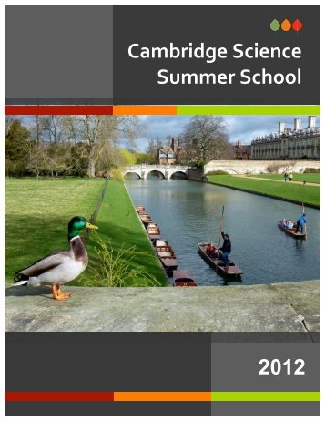 Cambridge Science Summer School 2012