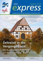 OWL express Ausgabe Herbst 2013 (PDF; 2,6 MB) - VVOWL