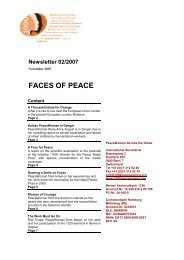FACES OF PEACE - Peace Women Across the Globe