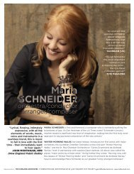 Maria Schneider Symphony One Sheet - Ted Kurland Associates