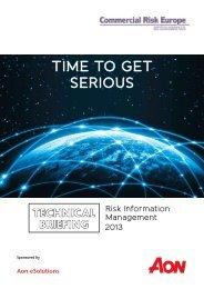 Technical Briefing–Risk Information Management 2013