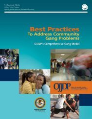 Best Practices To Address Community Gang Problems: OJJDP's ...