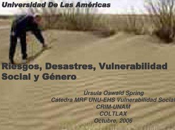 (Microsoft PowerPoint - Vortrag 24, riesgos, vulnerab. social y ...