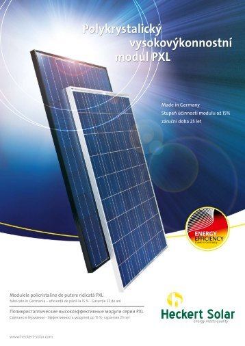 Polykrystalický vysokovýkonnostní modul PXL - Heckert Solar