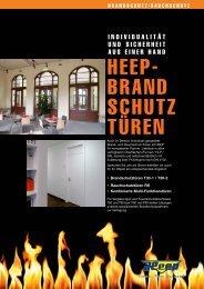 HEEP- BRAND SCHUTZ TÜREN - Heep Fenster GmbH