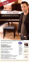 Konzert - Andi Weiss - Liebenswürdig - IVCG