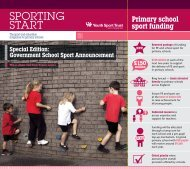 SPORTING START - Youth Sport Trust