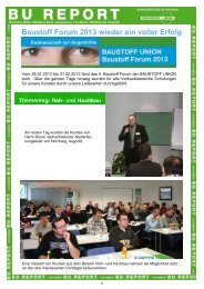 Baustoff Forum 2013 wieder ein voller Erfolg - bei der BAUSTOFF UNION