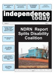 NDRN Report Splits Disability Coalition - Independence Today