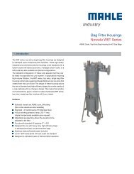 Data sheet W8T series - MAHLE Industry - Filtration