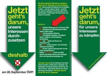 geht's darum, geht's darum, - ÖVP Kirchbach im Gailtal