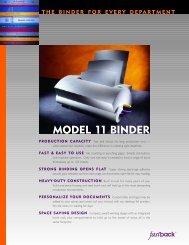 MODEL 11 BINDER