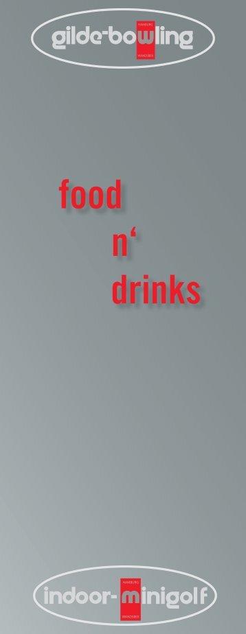 food n' drinks - Gilde-Bowling