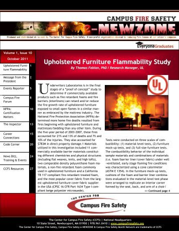 Upholstered Furniture Flammability Study - Center for Campus Fire ...