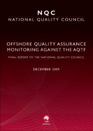 Offshore Quality Assurance - National Skills Standards Council
