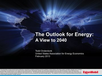 ExxonMobil's Energy Outlook to 2040 - United States Association of ...