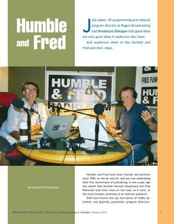 Humble and Fred - Broadcast Dialogue