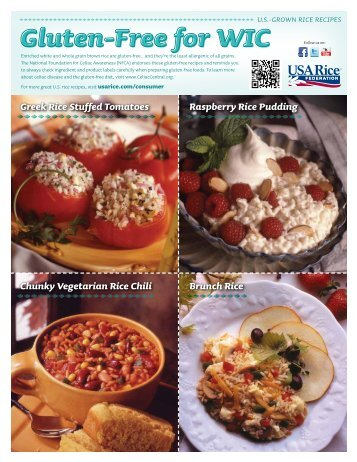 WIC Gluten- Free Recipes - USA Rice Federation