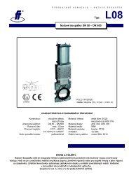 Typ: L08 Nožové šoupátko DN 50 – DN 600 - FLUIDTECHNIK ...