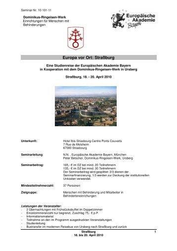 Europa vor Ort: Straßburg - Europäische Akademie Bayern e.V.