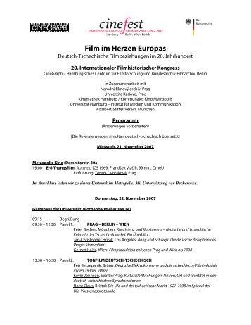 Kongress Programm 2007 - Cinefest