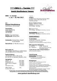 Ausschreibung EWU C Turnier Stauffenburg 2013