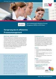 Vorsprung durch effizientes Prozessmanagement