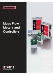 Mass Flow Meters and Controllers - Canada Analytical & Process ...