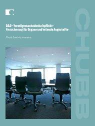 D&O - Vermögensschadenhaftpflicht- Versicherung für Organe und ...
