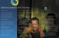 Download our brochure - Displacement Solutions