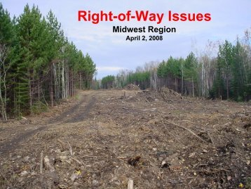 Right-of-Way Issues - Michigan Tech Tribal Technical Assistance ...