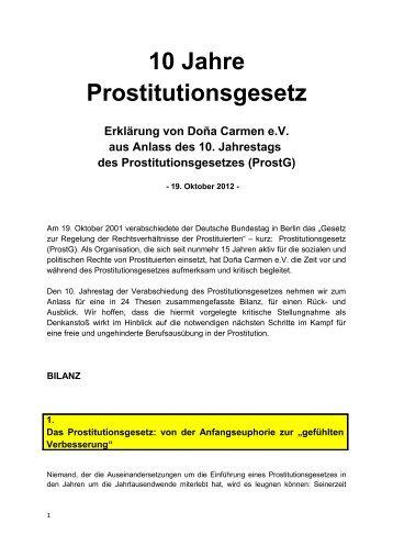 10 Jahre Prostitutionsgesetz - Dona Carmen e.V.