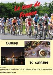 Le tour de France culturel et culinaire.pmd