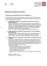 Información del Servicio Técnico - Jakob Müller AG