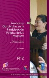 Avances y Obstáculos en la Participación Política de las ... - Sidoc