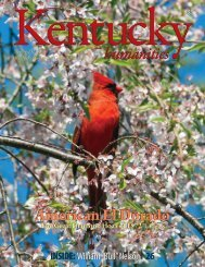 to see the complete 2013 Spring issue of Kentucky Humanities