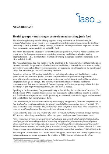 NEW July 2010 Press Release - International Association for the ...