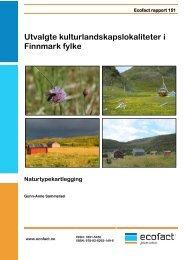 Utvalgte kulturlandskap i Finnmark fylke ... - EcoFact
