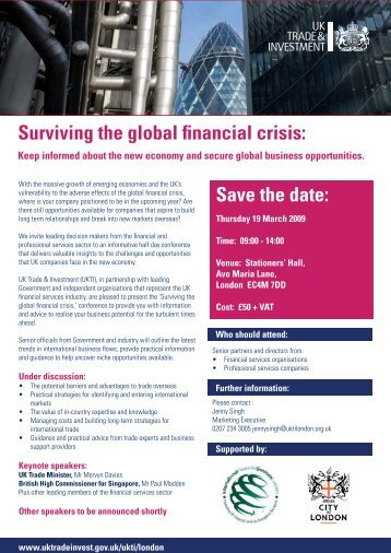 Surviving the global financial crisis - The Law Society International ...