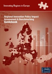 Regional Innovation Policy Impact Assessment ... - Urenio