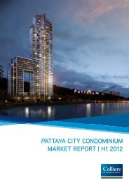 Pattaya City Condominium market rePort | H1 2012 - Colliers