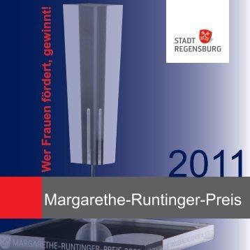 Margarethe-Runtinger-Preis 2011 - Frau und Beruf