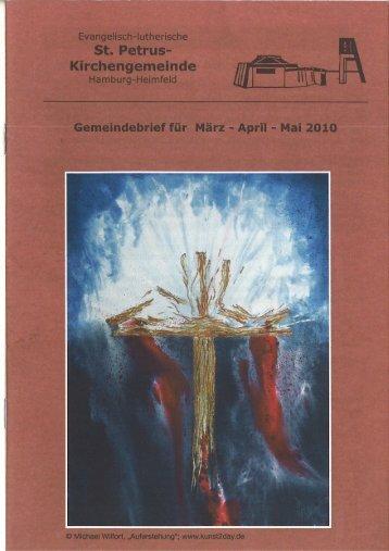 Gemeindebrief für März bis Mai 2010 - St. Petrus – Hamburg-Heimfeld