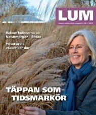LUM nr 1, 2012 - Humanekologi Lunds universitet