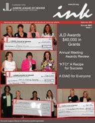 JLD Awards $40,000 in Grants - Junior League of Denver