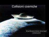 Collisioni cosmiche - Comune di Milano